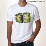 Tshirts branca + moto + Brasil Flag
