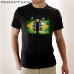 Tshirt Black + moto + Brasil
