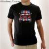 tshirt preta + Defender UK mesh